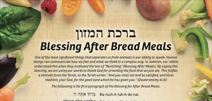 picture relating to Birkat Hamazon Text Printable referred to as Bentsching webpage